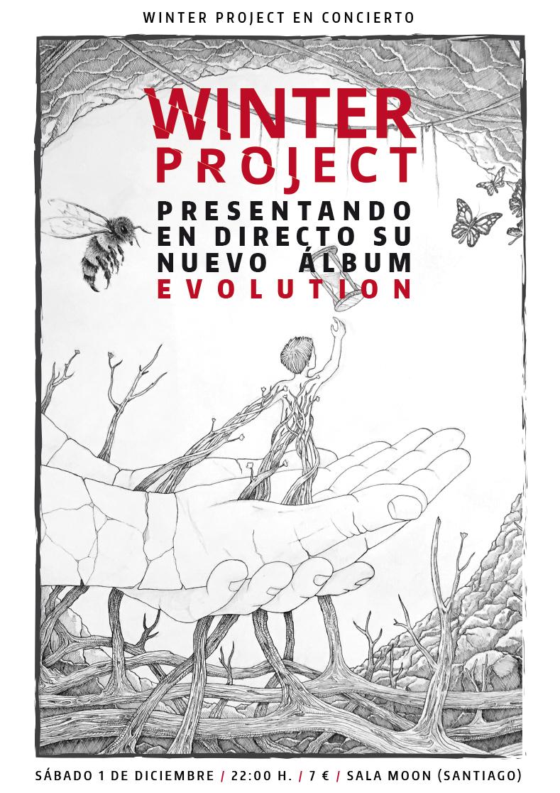 Cartel del concierto de Santiago