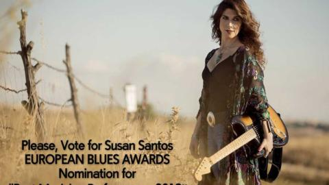Susan Santos nominada en los European Blues Awards