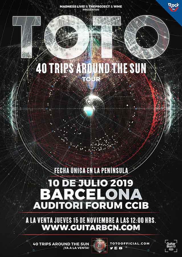 cartel concierto TOTO en Barcelona 2019