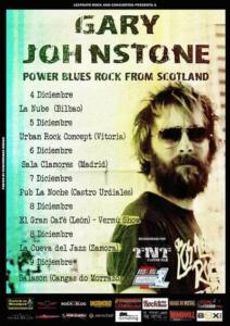 cartel conciertos Gary Johnstone 2018