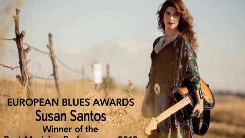 Susan Santos gana el premio a Best Performance 2018 en los European Blues Awards