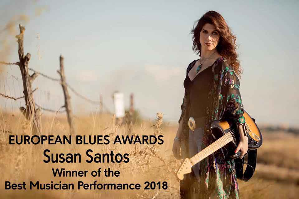 Susan Santos gana Best Performance 2018 en los European Blues Awards