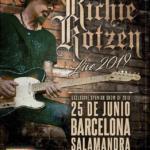 Cartel concierto Richie Kotzen Barcelona 2019