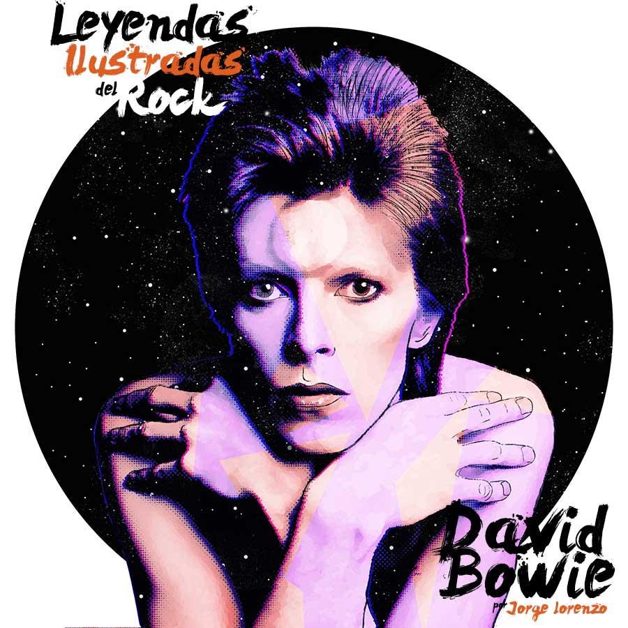 Leyendas del Rock Ilustración David Bowie