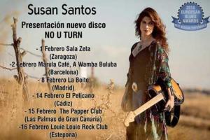 Cartel conciertos Susan Santos