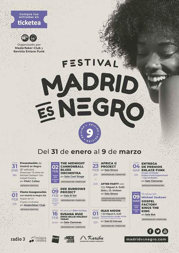 cartel festival Madrid es Negro 2019