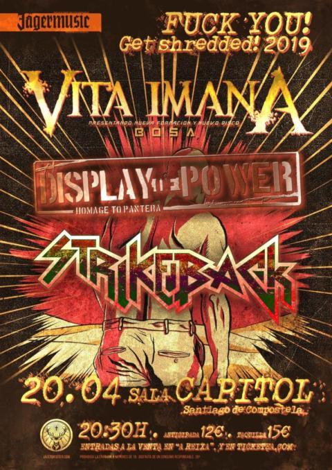 Vita Imana vuelve a Galicia el 20 de Abril de la mano de Display of Power