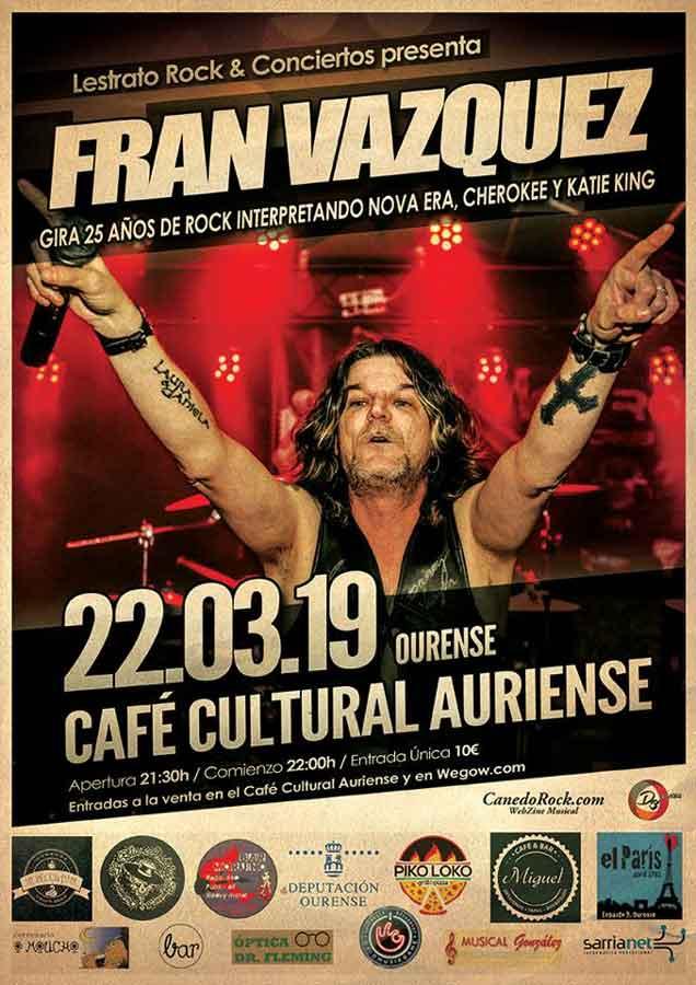 Cartel Fran Vázquez Ourense