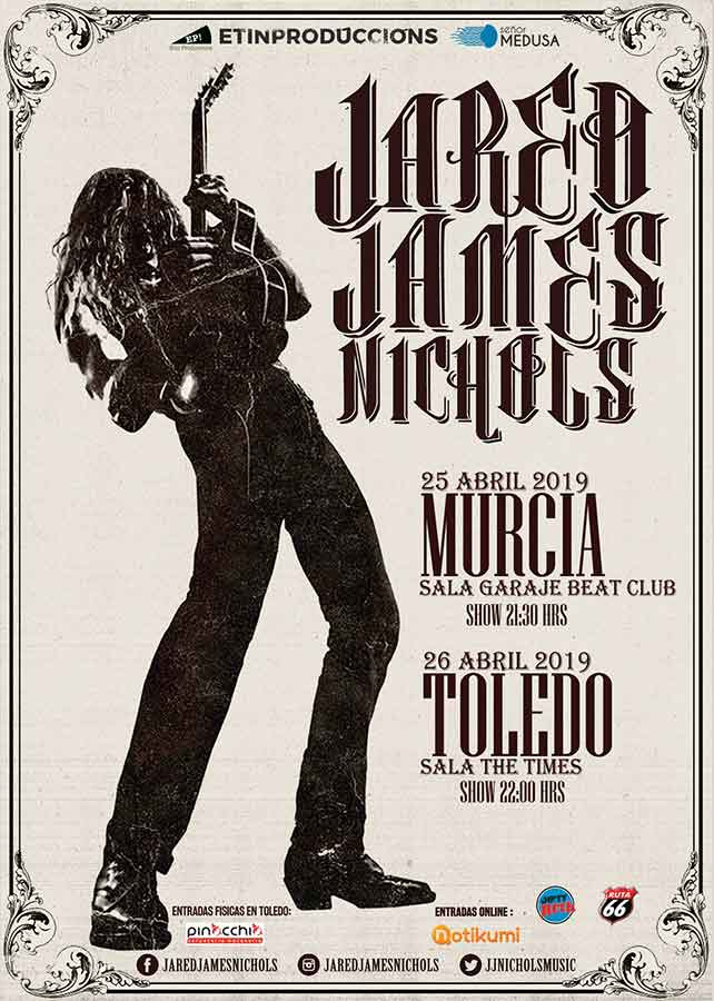Cartel Conciertos Jared James Nichols