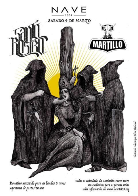 Santo Rostro y Martillo harán retumbar la Nave 1839 este Marzo