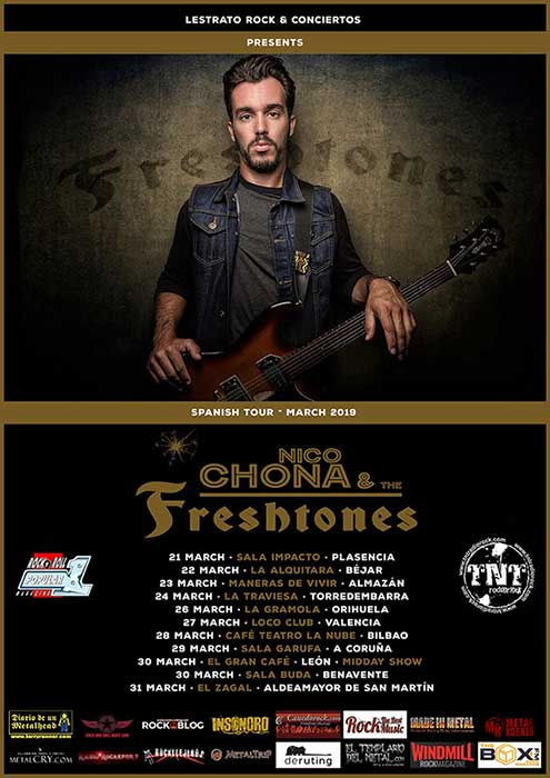 Cartel conciertos de Nico Chona & The Freshtones