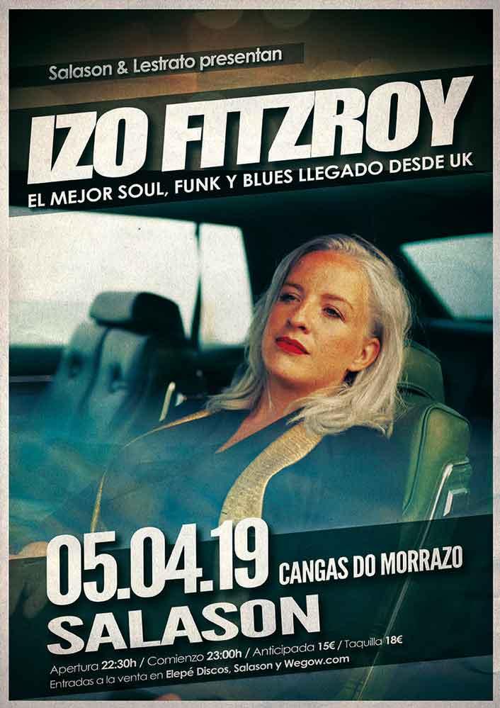 Cartel concierto Izo Fitzroy