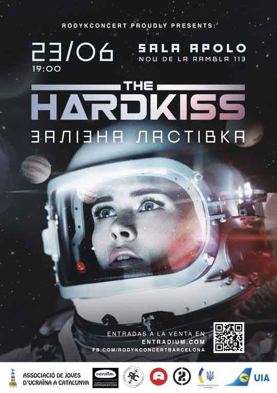 Cartel concierto The Hardkiss en Barcelona