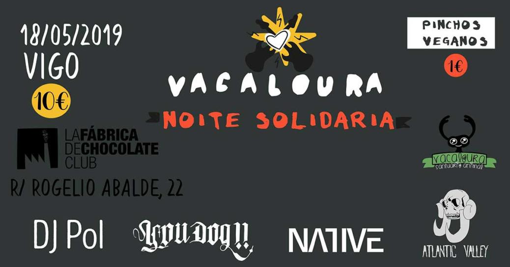 Cartel Noite Solidaria Asociación Vacaloura