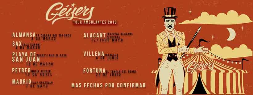 Tour Ambulantes 2019 Geisers