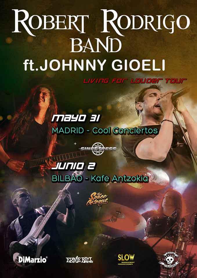 Cartel conciertos Robert Rodrigo