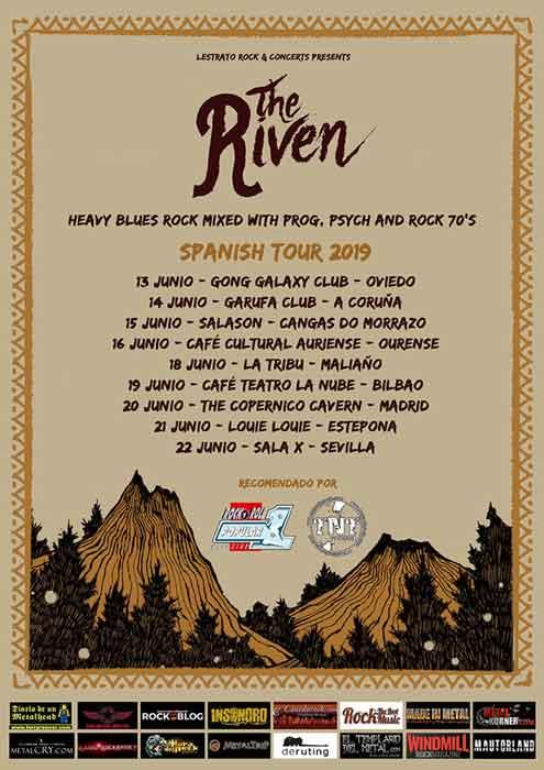 Cartel conciertos The Riven 2019
