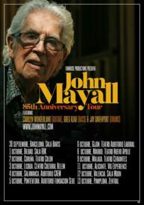 Cartel 85 anniversary tour John Mayall 2019
