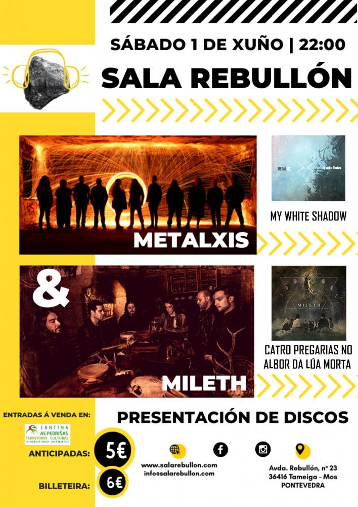 cartel MetalXis & Mileth en Mos
