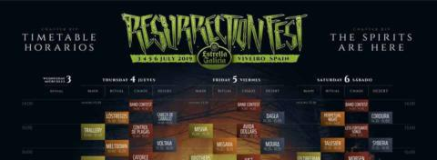 Horarios Resurrection Fest 2019 – Running Order