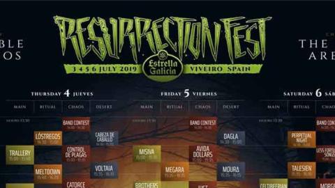 Horarios Resurrection Fest 2019 – Running Order