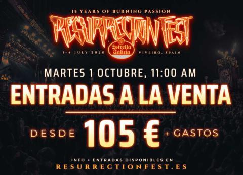 ¡IMPORTANTE información venta abonos Resurrection Fest 2020!