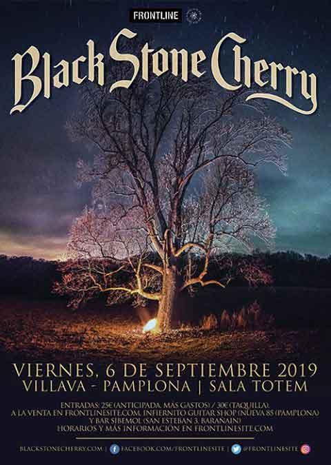 cartel Black Stone Cherry Pamplona