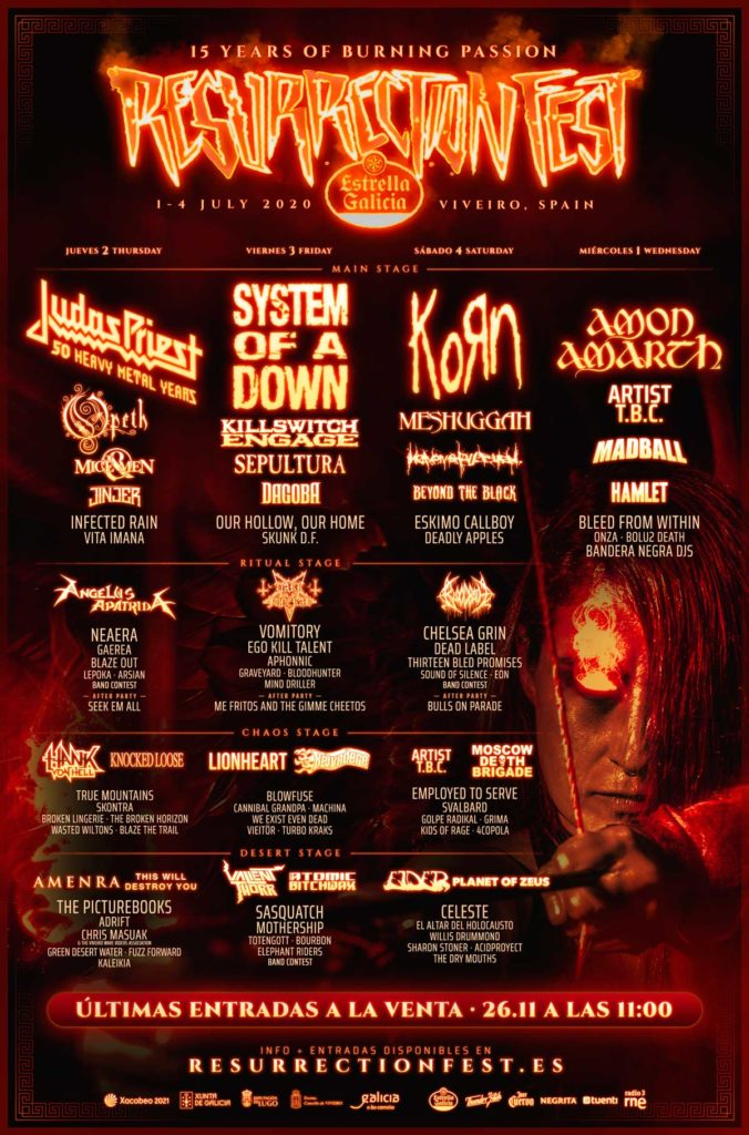 cartel por días Resurrection Fest 2020