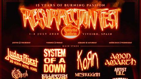 Cartel por días del Resurrection Fest 2020 y nuevas bandas destacando Amon Amarth y Opeth