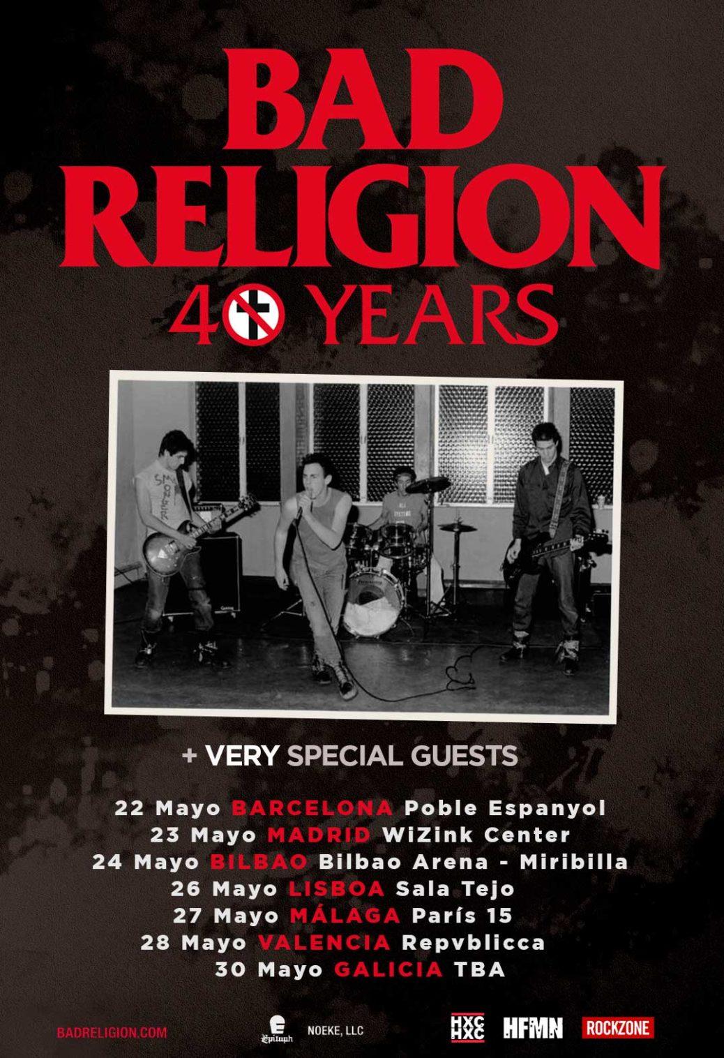 Cartel gira Bad Religion 2020