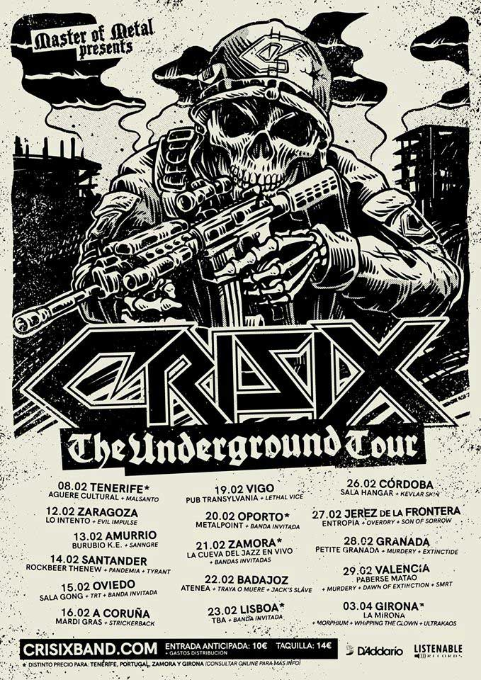 Cartel The Underground Tour Crisix