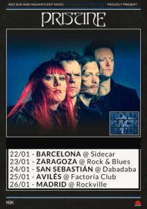Cartel conciertos Pristine España 2020