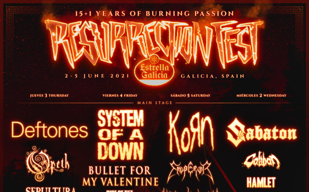 Cabezas de cartel Resurrection Fest 2021