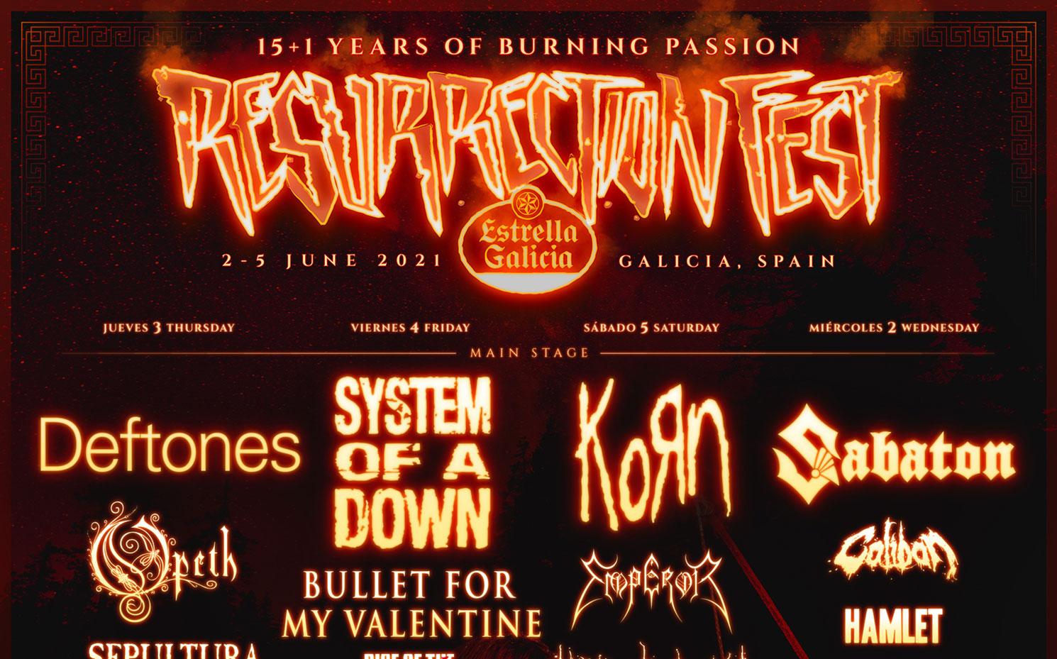 Cabezas de cartel Resurrection Fest 2021