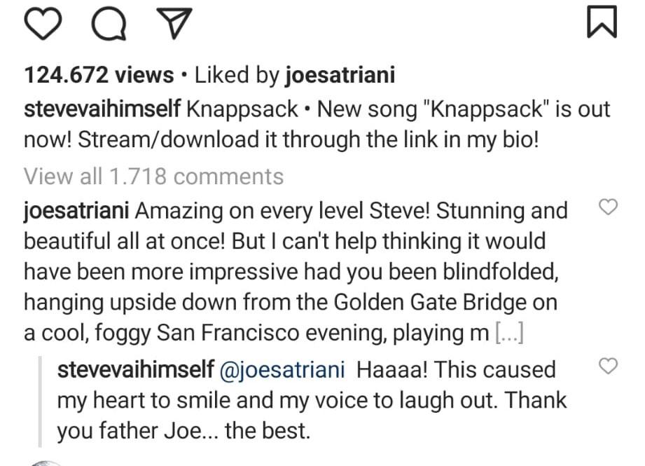 comentario de Joe Satriani
