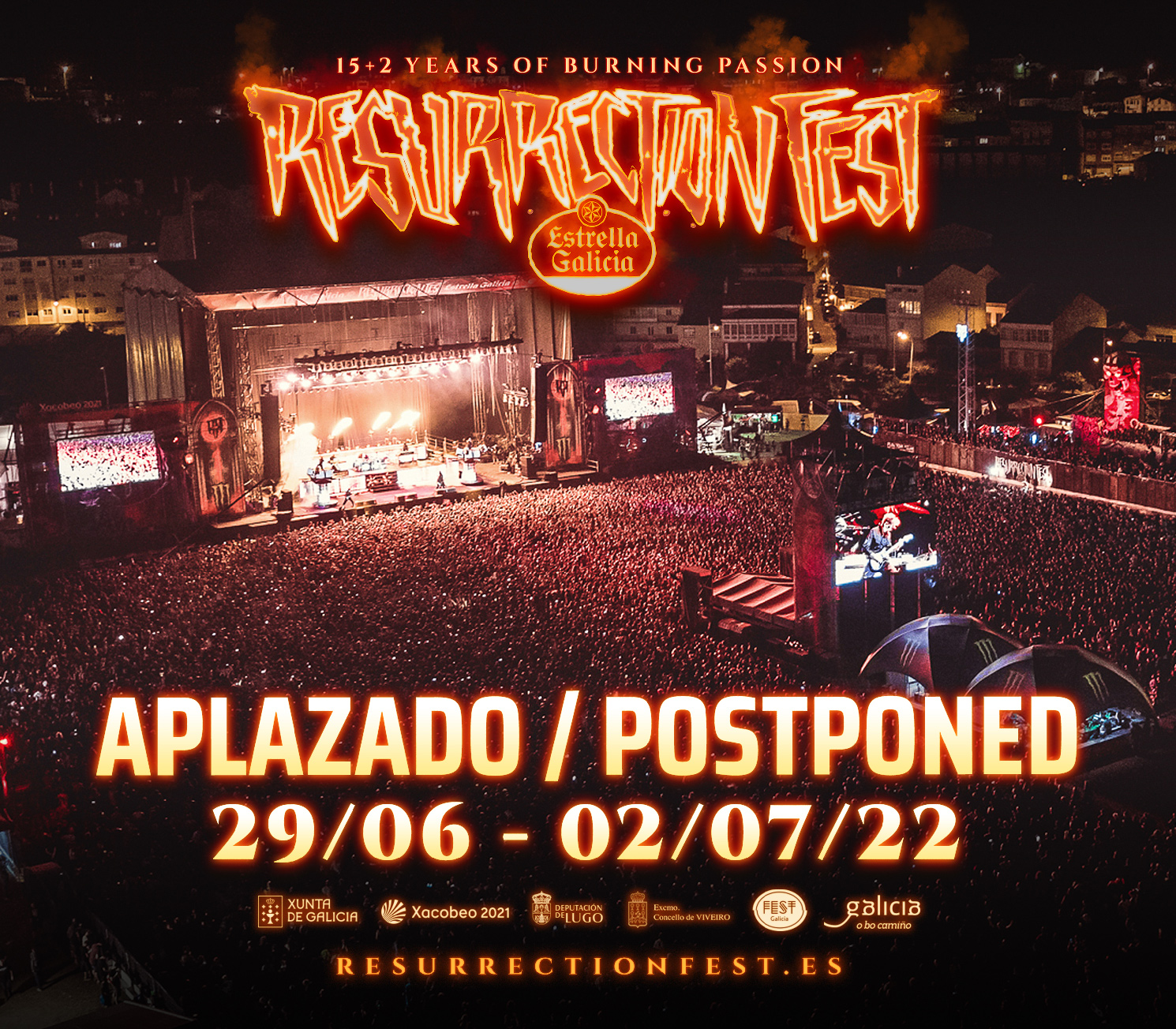 Aplazamiento Resurrection Fest 2021