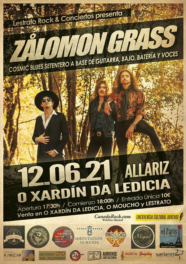 cartel concierto Zålomon Grass Allariz