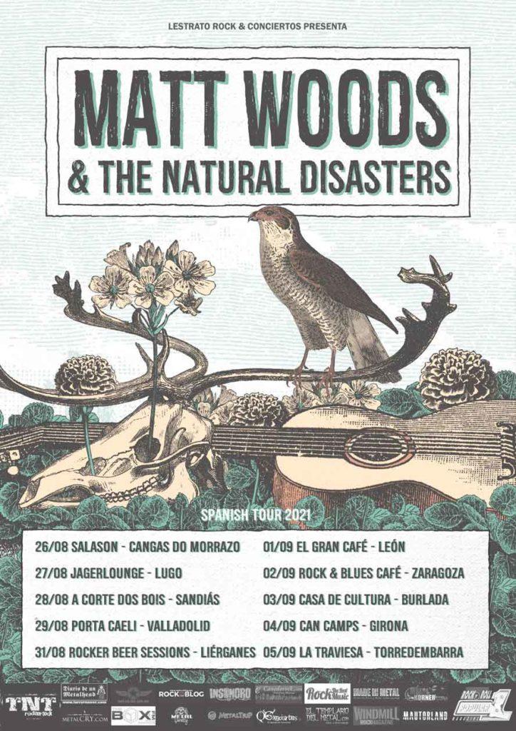 Cartel conciertos de Matt Woods & The Natural Disasters