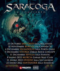 Cartel conciertos Saratoga 2021