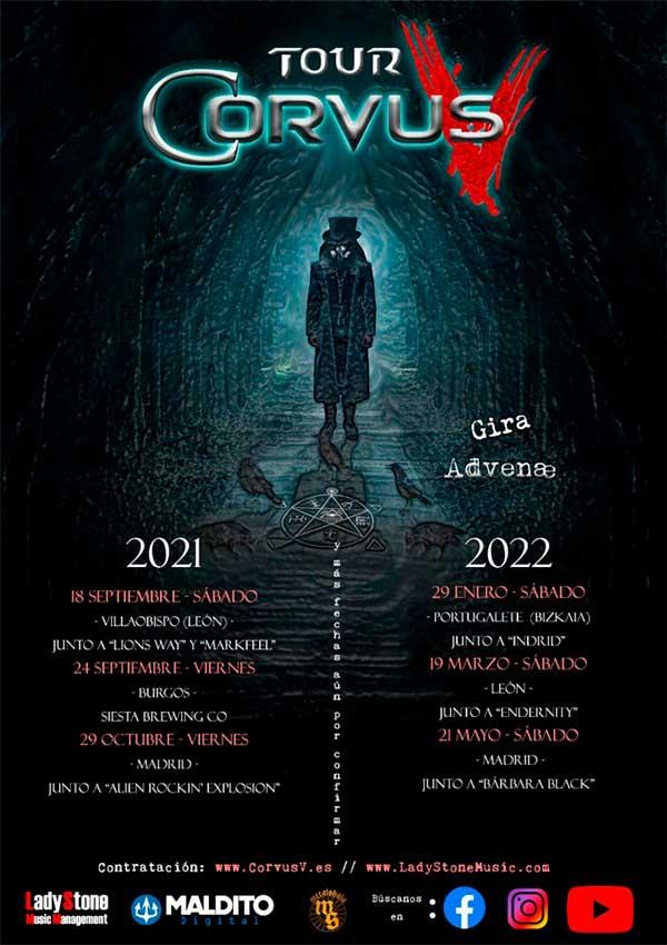 Cartel conciertos Corvus V