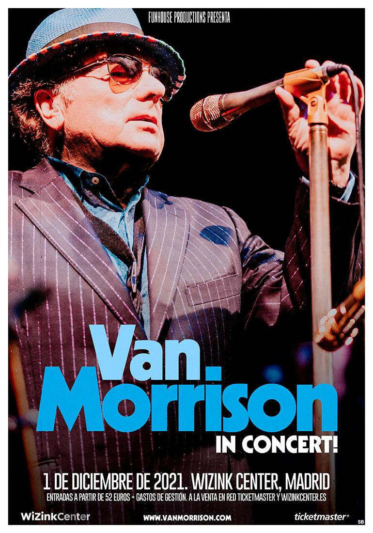cartel Van Morrison Madrid 2021