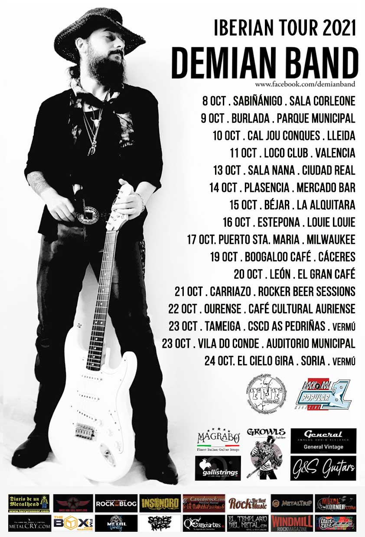 cartel gira Demian Band 2021