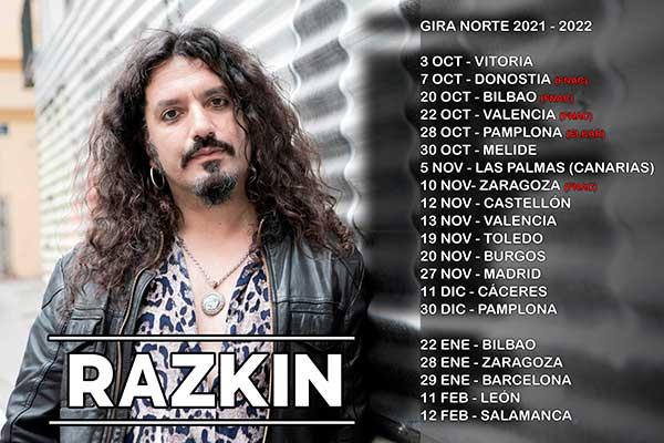 Fechas conciertos Razkin, gira Norte